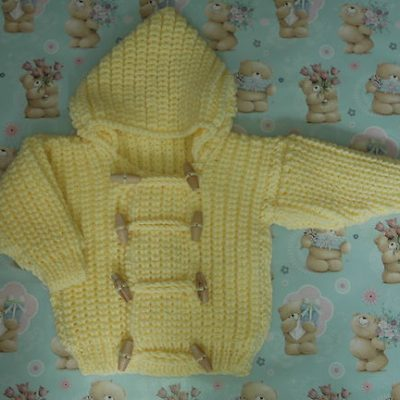 chunky knitted toddlers coat