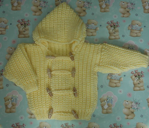 Knitting Pattern For Toddler Duffle Coat : Chunky   Knitting pattern   Babies duffle coat   very warm ...