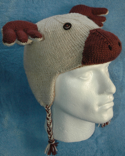 Knitting Pattern Hat Dk : DK   Knitting pattern   Reindeer Hat KnitsRUs