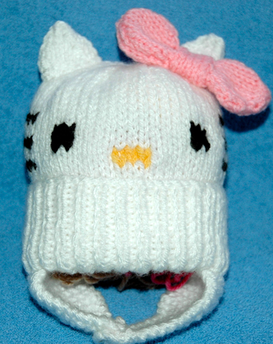Aran   Toddler s Kitty Cat Hat KnitsRUs