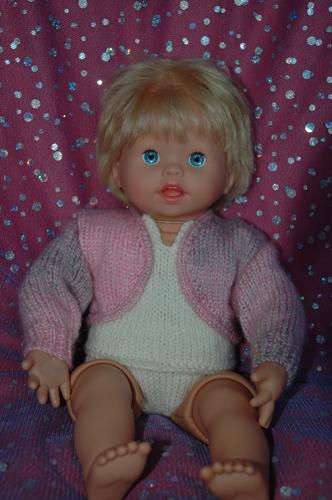 Dk Doll S Bolero Plain Amp Lacy Cardigan Knitsrus