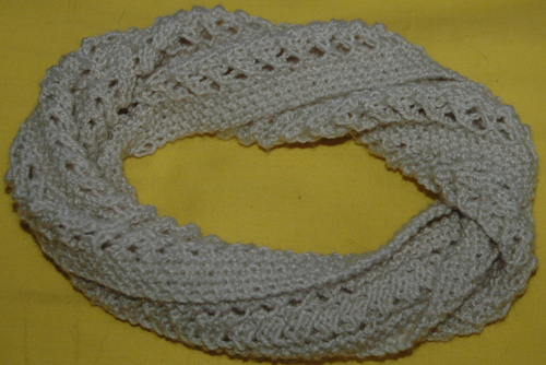 DK   Twisted Lacy Headband & Cowl KnitsRUs