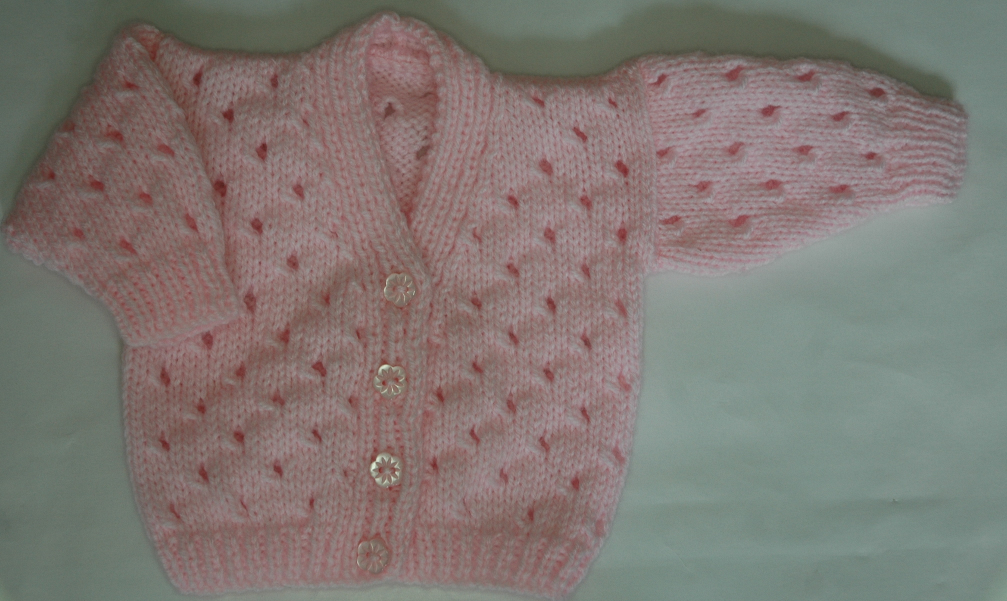 New Baby Cardigan Knitting Pattern - White Polo Sweater