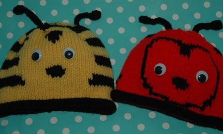 front baby bee ladybird hat