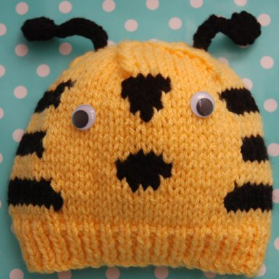 Chunky bee hat - childrens to adults