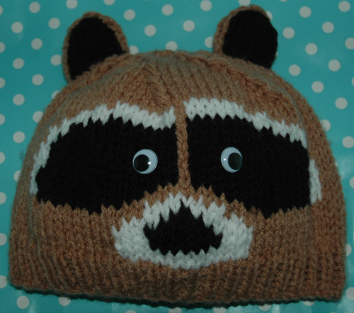 Chunky Racoon Hat Childrens to Adults