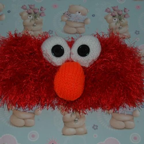 Elmo Doll Knitting Pattern : Funky yarn   Knitting pattern   Elmo style headband ...