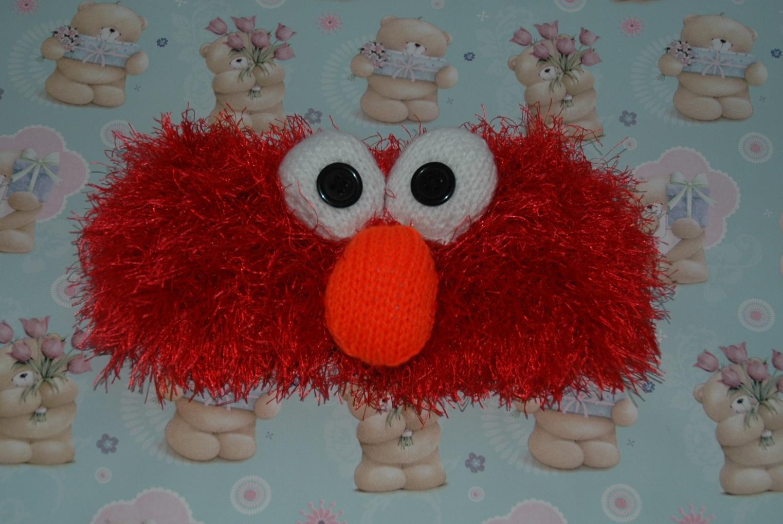 Elmo Knitting Pattern : Funky yarn   Knitting pattern   Elmo style headband ...