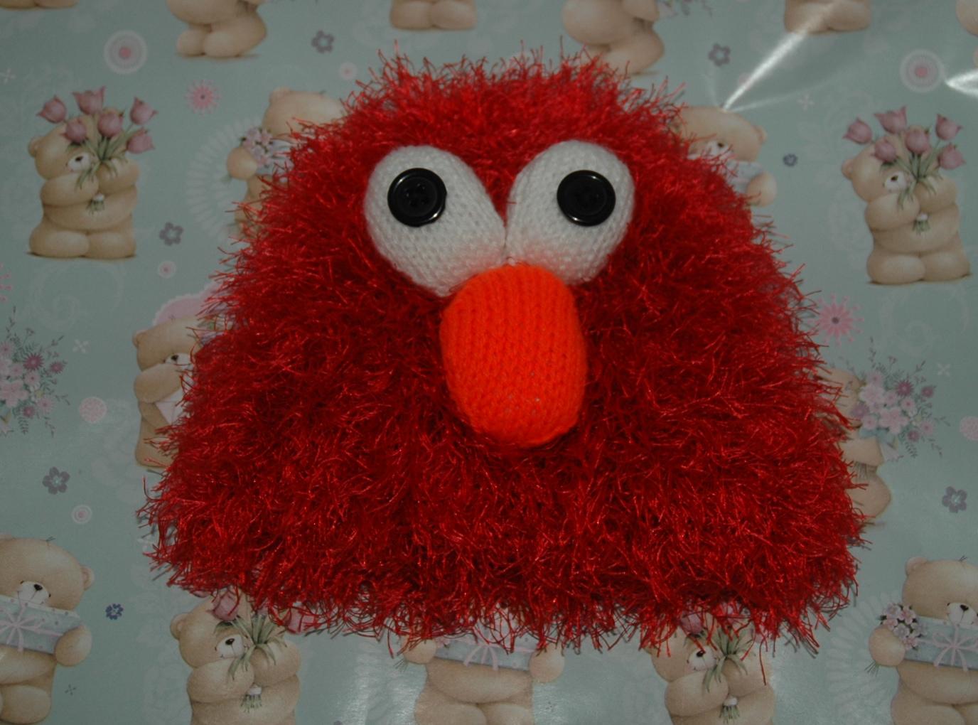 Elmo Knitting Pattern : Funky Elmo Hat Pattern KnitsRUs