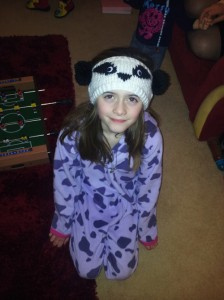 Chunky Badger Headband Pattern being modelled