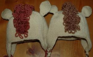 Both backs baby horse hats