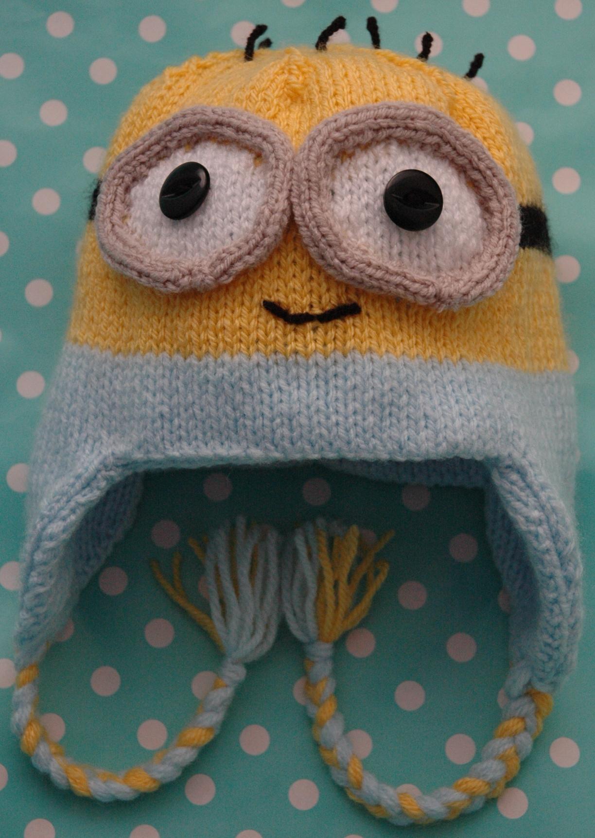 Childs Minion Hat Knitting Pattern : DK   Baby Minions Style Hat (looks like) KnitsRUs
