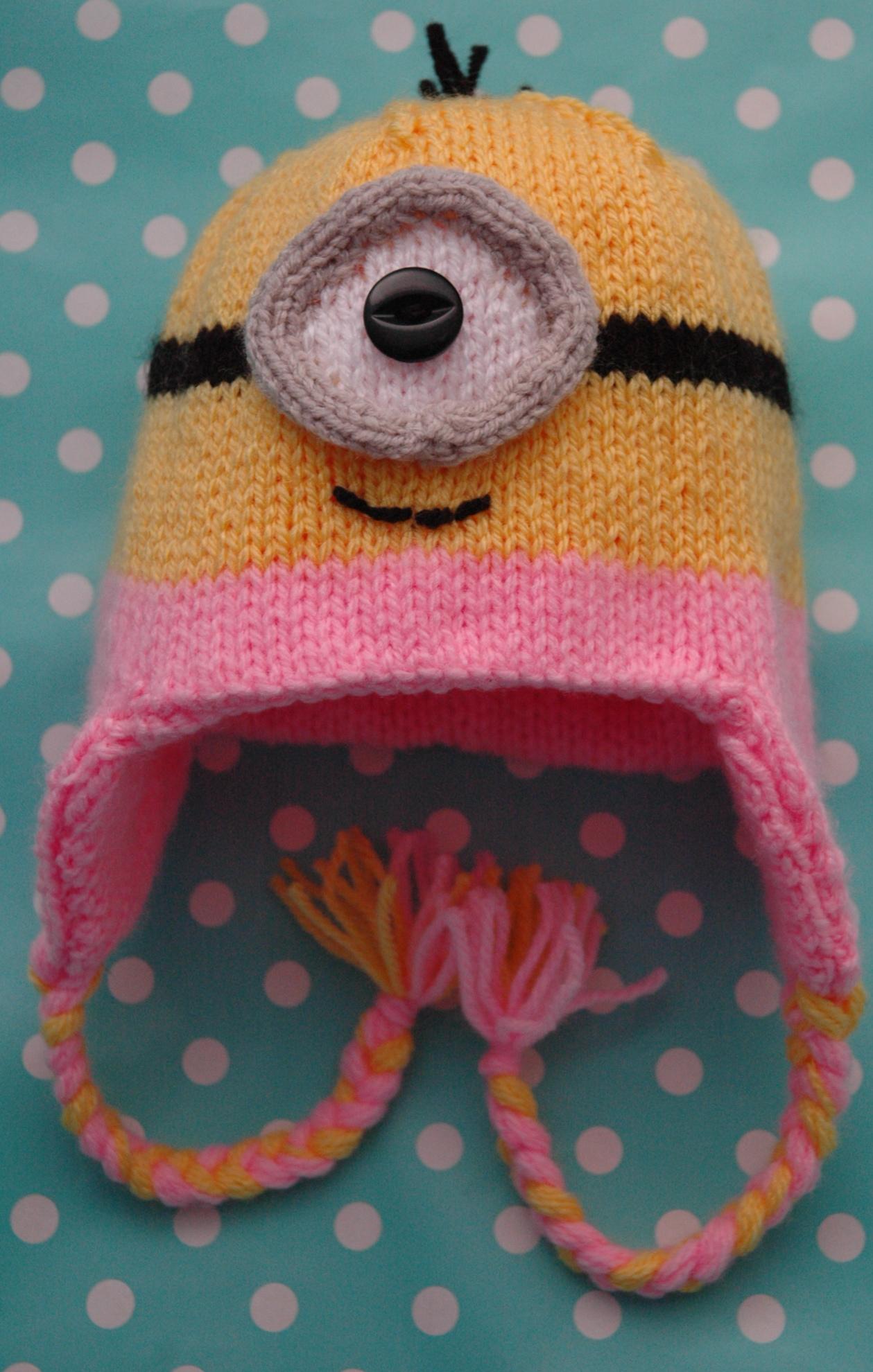Childs Minion Hat Knitting Pattern : DK   Knitting pattern   Baby Minions Style Hat (looks like) KnitsRUs