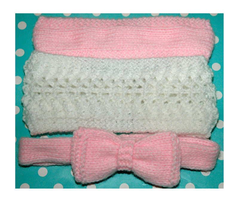 DK - Knitting pattern - Baby Headbands x 3 | Knits r us