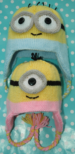 Dk Knitting Pattern Baby Minions Style Hat Looks Like Knits R Us