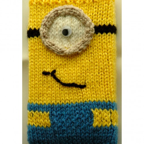DK   Knitting pattern   Minion Style Mobile Phone / ipod Covers (looks like) ...