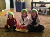 Knitter Nans Frog Hats