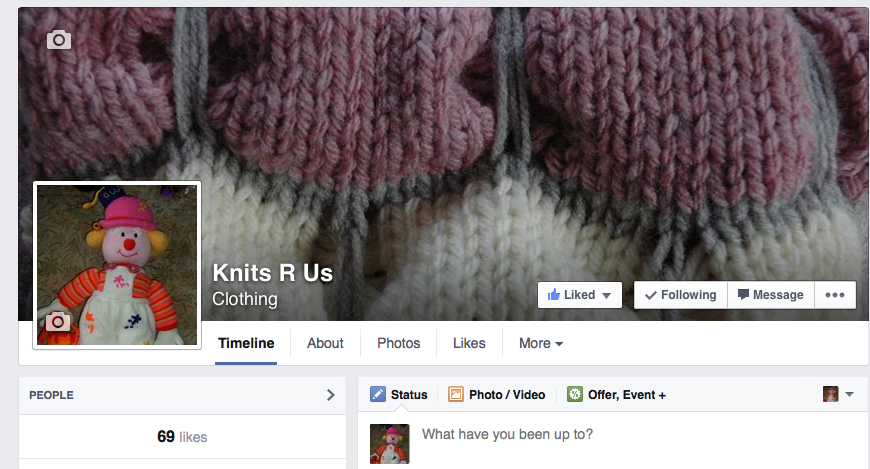 Knits-r-us Facebook Page