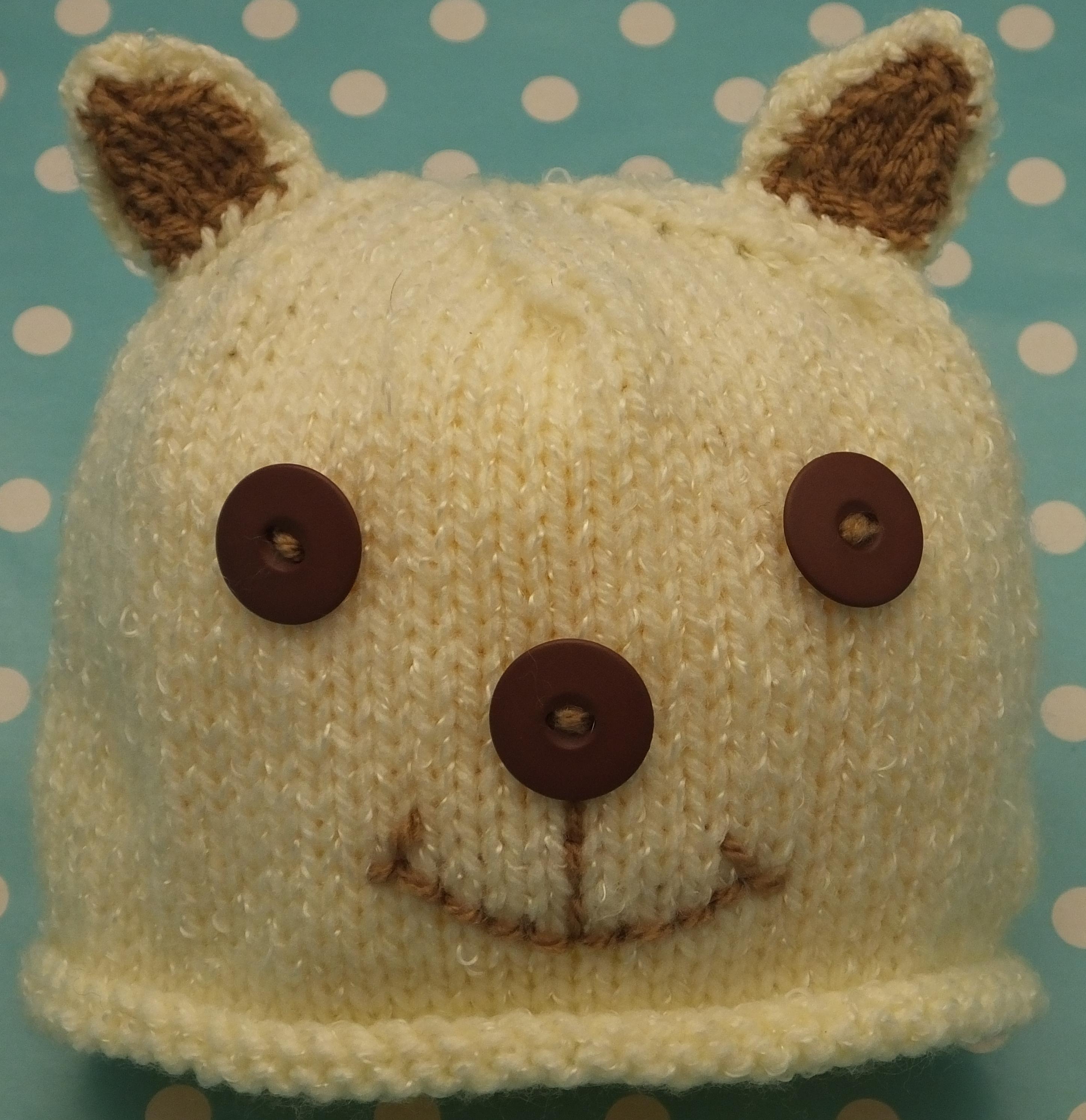 Dk Knitting Pattern Babies Teddy Bear Amp Owl Hats