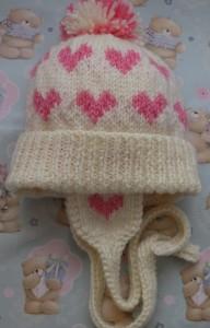 Aran Babies Heart Hat