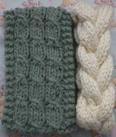 Super Chunky Mock Cable & Cable Headbands