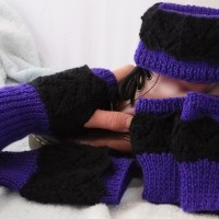 DK Fishtail Lacy Boot Cuffs, Cuffs & Fingerless Gloves