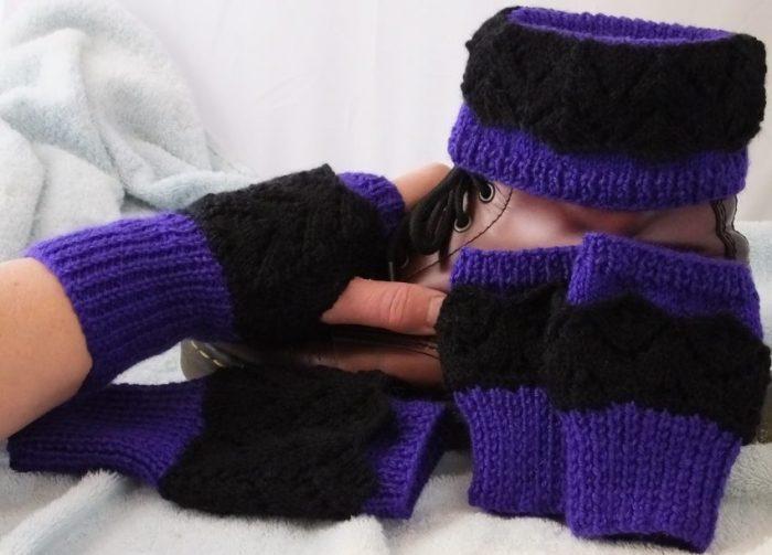 Fingerless Gloves Knitting Pattern Dk : DK   Knitting pattern   Fishtail Lacy Boot Cuffs, Cuffs ...