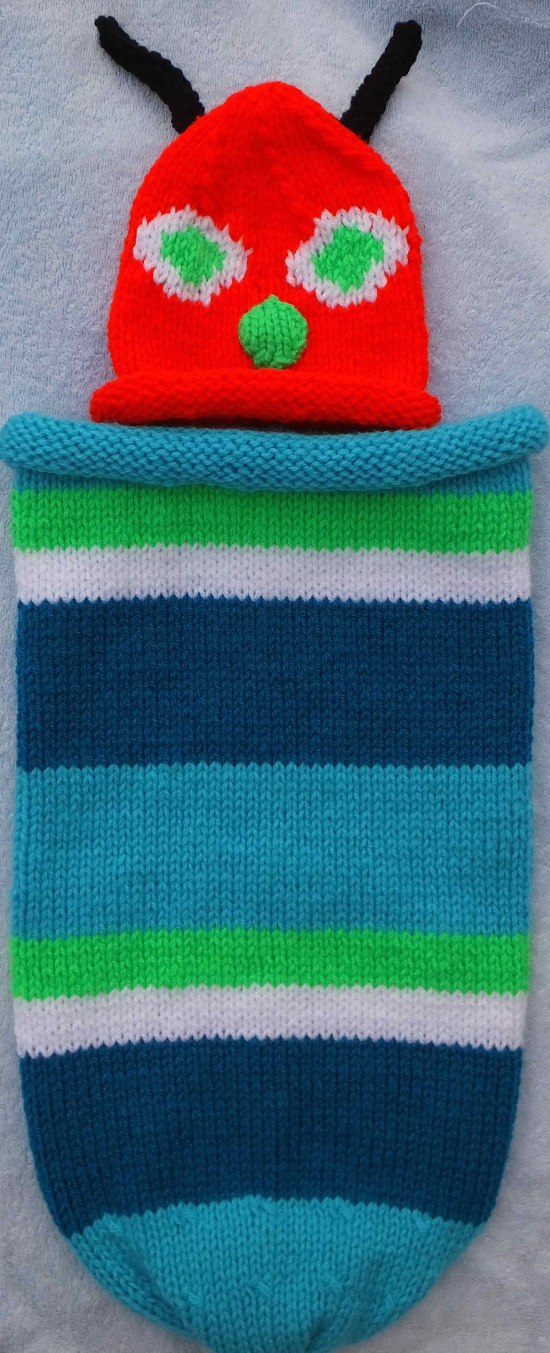 Double DK - Babies Hungry Caterpillar hat & sleeping bag / snuggle ...