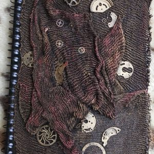 Steampunk lined covered book