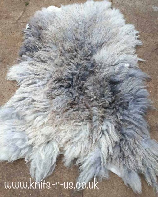 Wet felted fleece rug