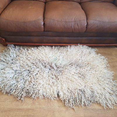 large lincoln longwool sheep fleece throw