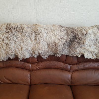 light brown ryeland sheep fleece throw rug