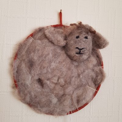 red dreamcatcher ryeland sheep fleece