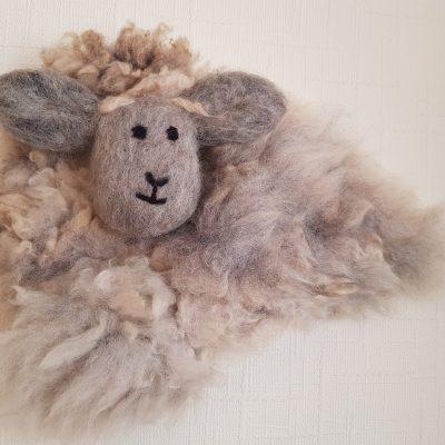 wall art rye land sheep fleece