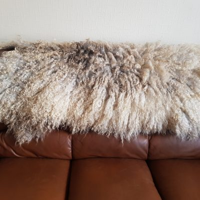 2nd large lincoln longwool sheep fleece rug throw