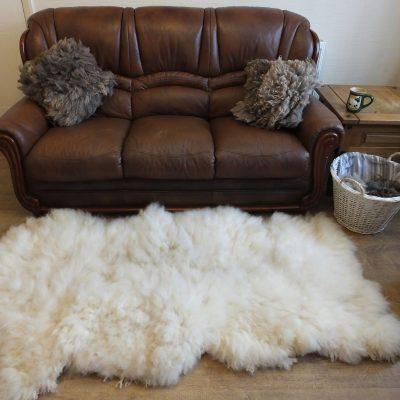 luxurious romney sheep fleece rug